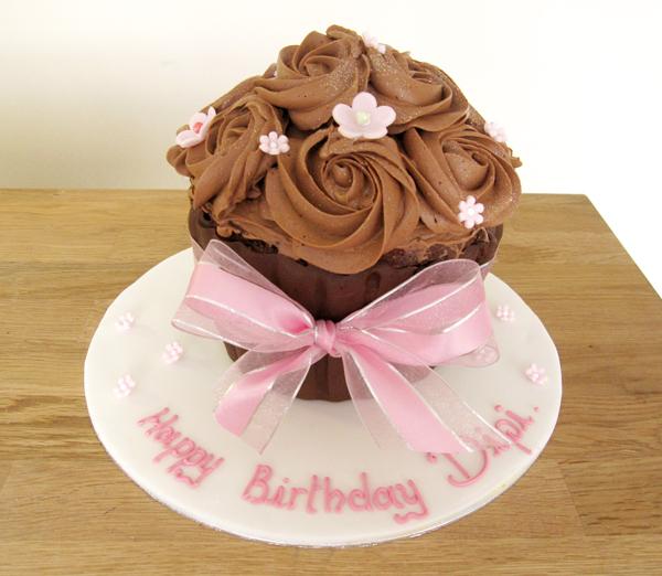 Giant Chocolate Cupcake