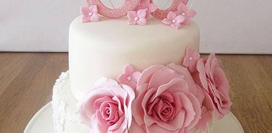 50th Pink Birthday Cake