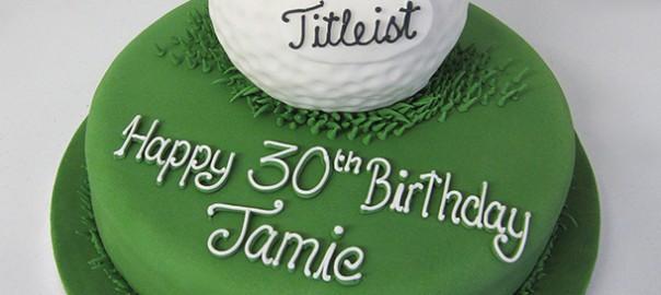 Golf Ball Novelty Cake