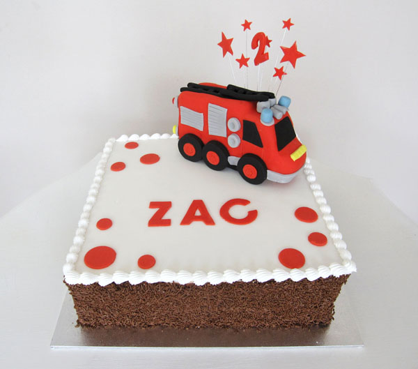 Red Fire Engine Cake