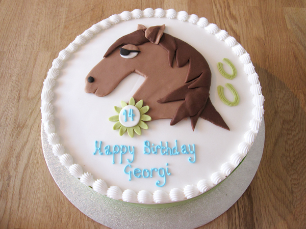 14th Birthday Horse Head Cake