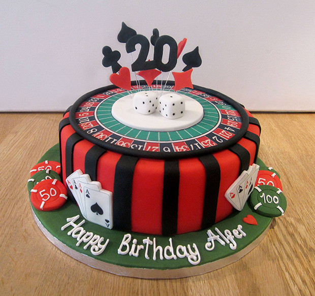 Casino Birthday Cake