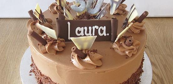 Fancy Chocolate 30th Cake