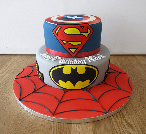 Pleasant Super Hero Birthday Cake The Cakery Leamington Spa Personalised Birthday Cards Rectzonderlifede