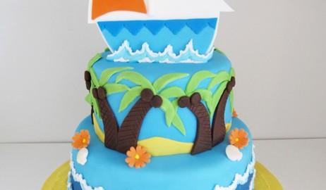 Tropical Boat Cake