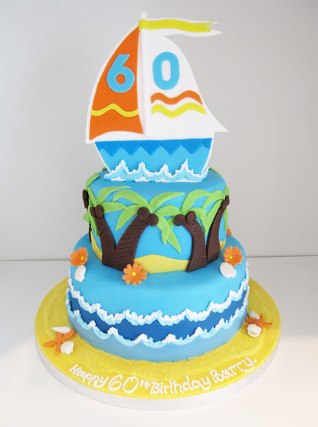 Tropical Boat Cake