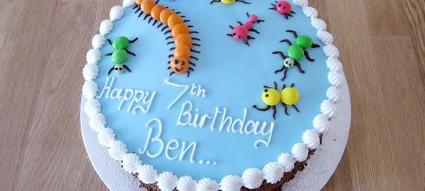 Creepy Crawlies Birthday Cake