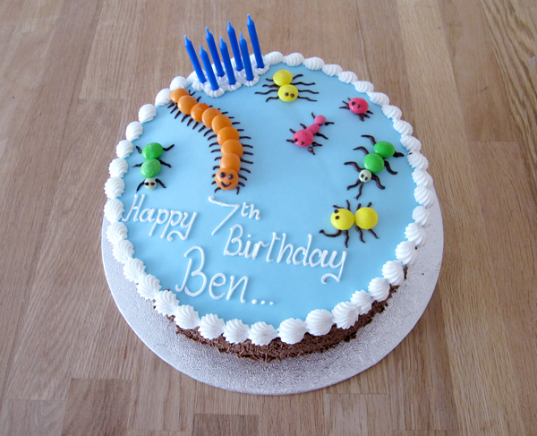 Creepy Crawlies Birthday Cake