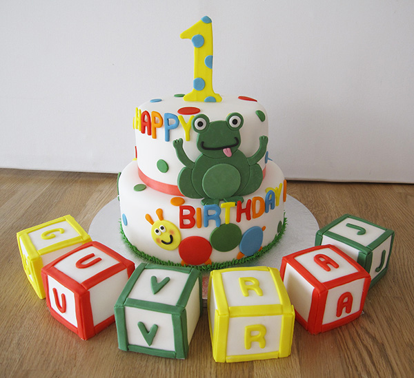 Cute 1st Birthday Cake