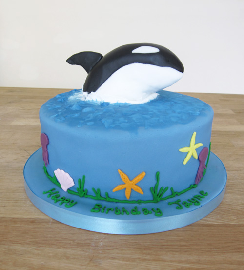 Killer Whale Birthday Cake