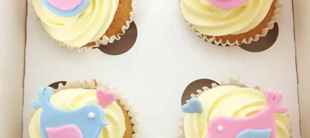 Lovebird Cupcakes