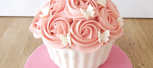 Pink 21st Birthday Giant Cupcake