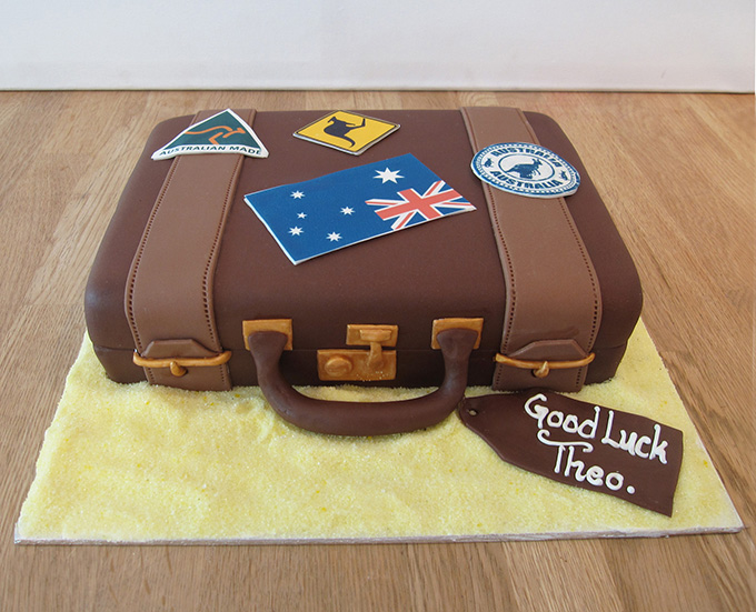 Suitcase Travelling Cake