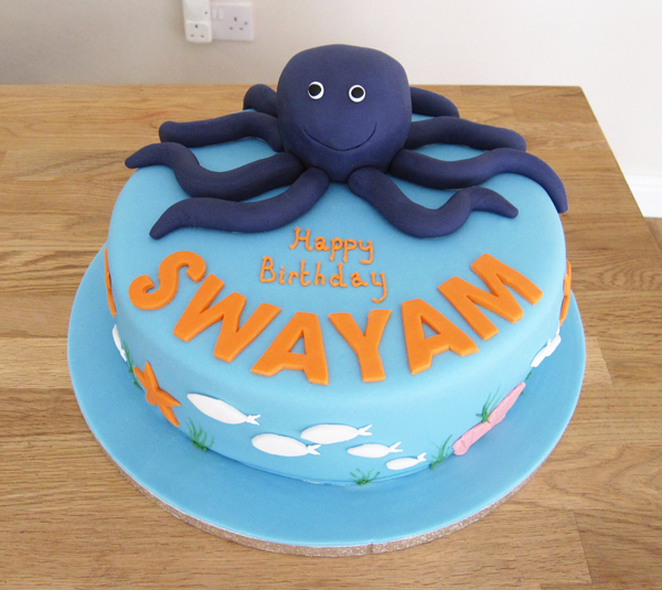 Under-the-Sea Octopus Cake