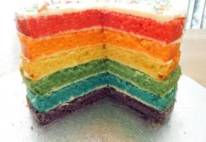 Rainbow cake inside