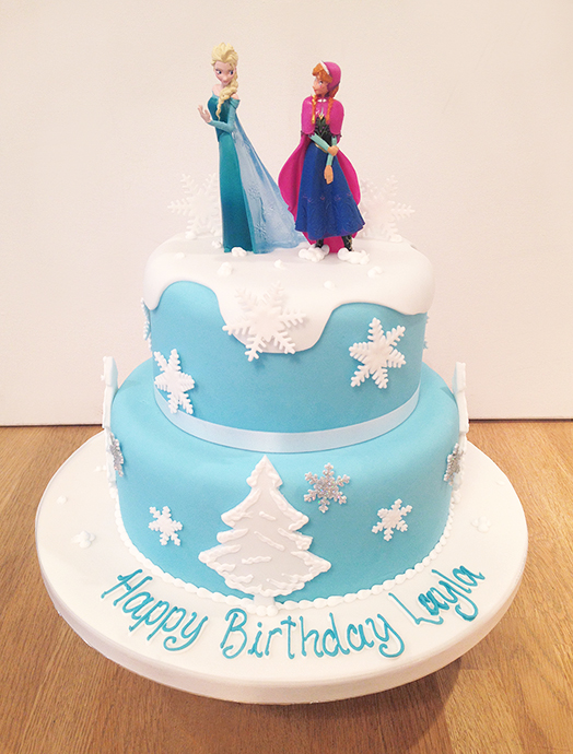 Disney Frozen 2 Tier Birthday Cake The Cakery Leamington Spa