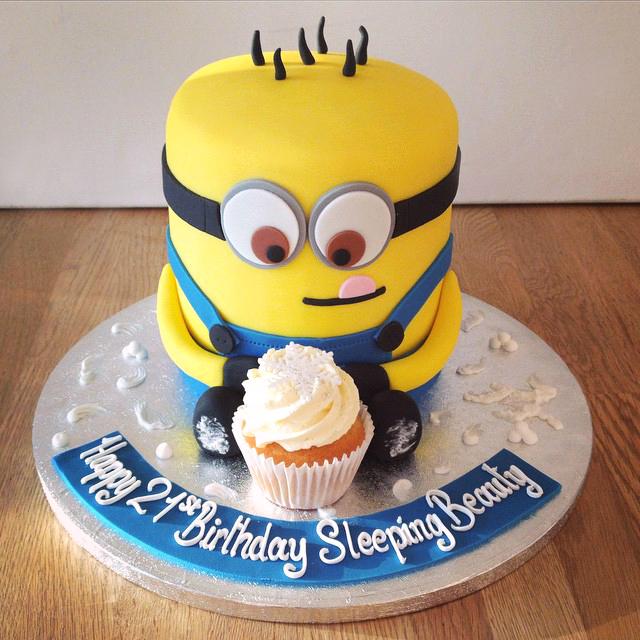 Enjoyable Minion Cupcake Birthday Cake The Cakery Leamington Spa Personalised Birthday Cards Veneteletsinfo