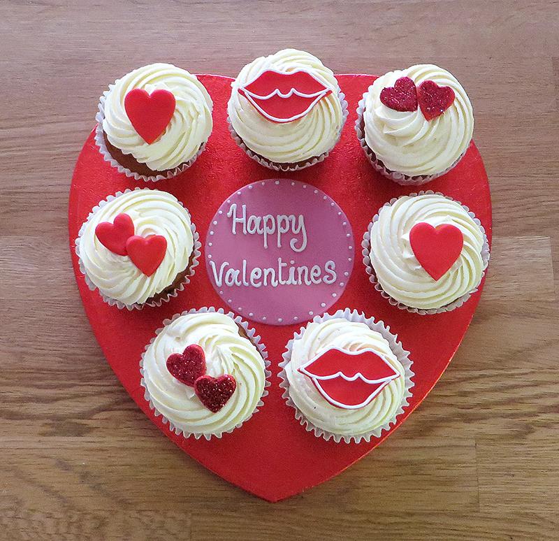 Heart Cupcake Board
