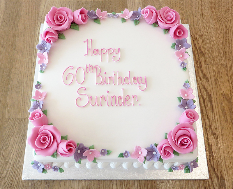 Floral Framed Birthday Cake