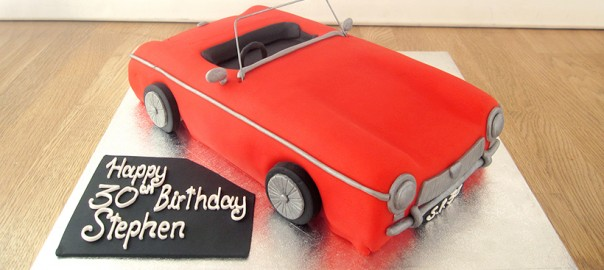 Red Cadillac Birthday Cake