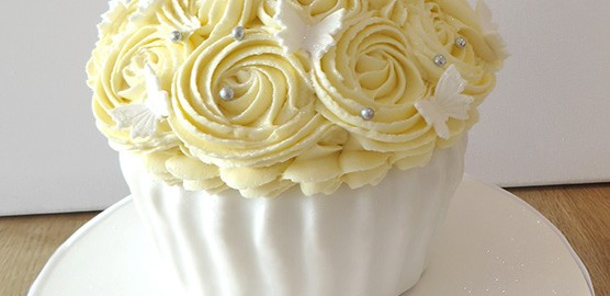 Wedding Giant Cupcake with Butterflies