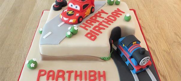 Cars Novelty Birthday Cake
