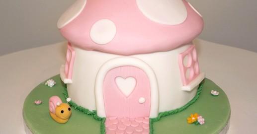 Girly Pink Toadstool Cake