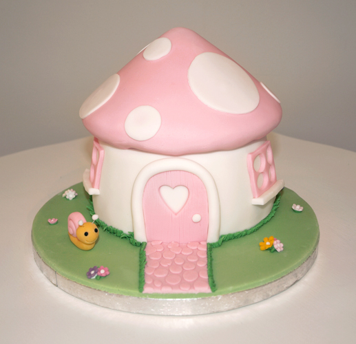 Girly Pink Toadstool Cake