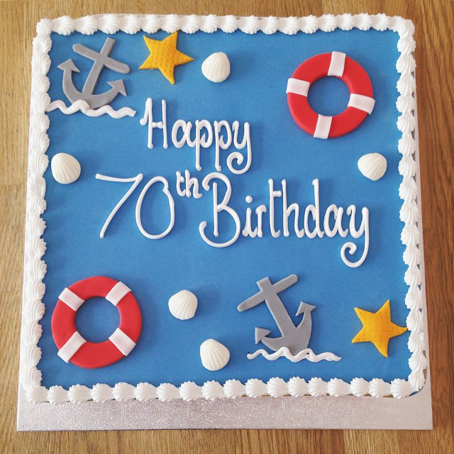 Swell Nautical Birthday Cake The Cakery Leamington Spa Personalised Birthday Cards Sponlily Jamesorg