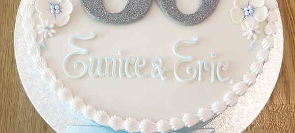 Round 60th Birthday Cake