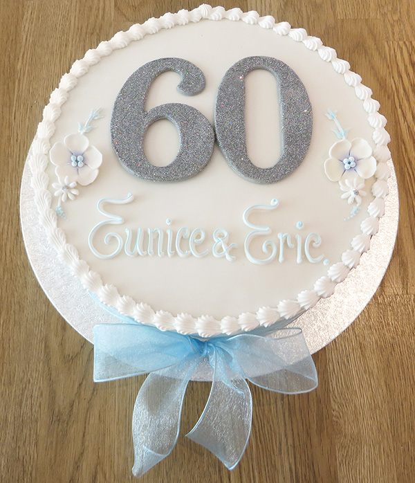 Round 60th Birthday Cake