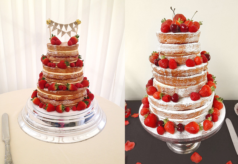 Naked Wedding Cakes by The Cakery Leamington