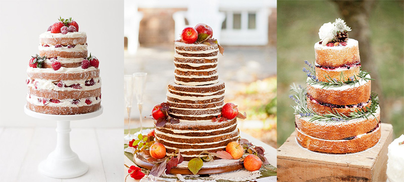 Naked wedding cake examples