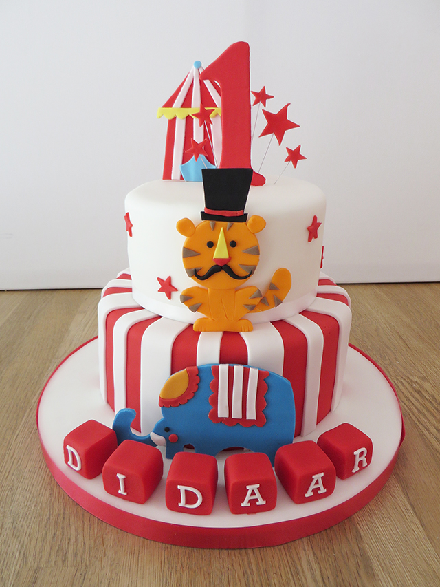 Miraculous 2 Tier Circus Birthday Cake The Cakery Leamington Spa Personalised Birthday Cards Veneteletsinfo