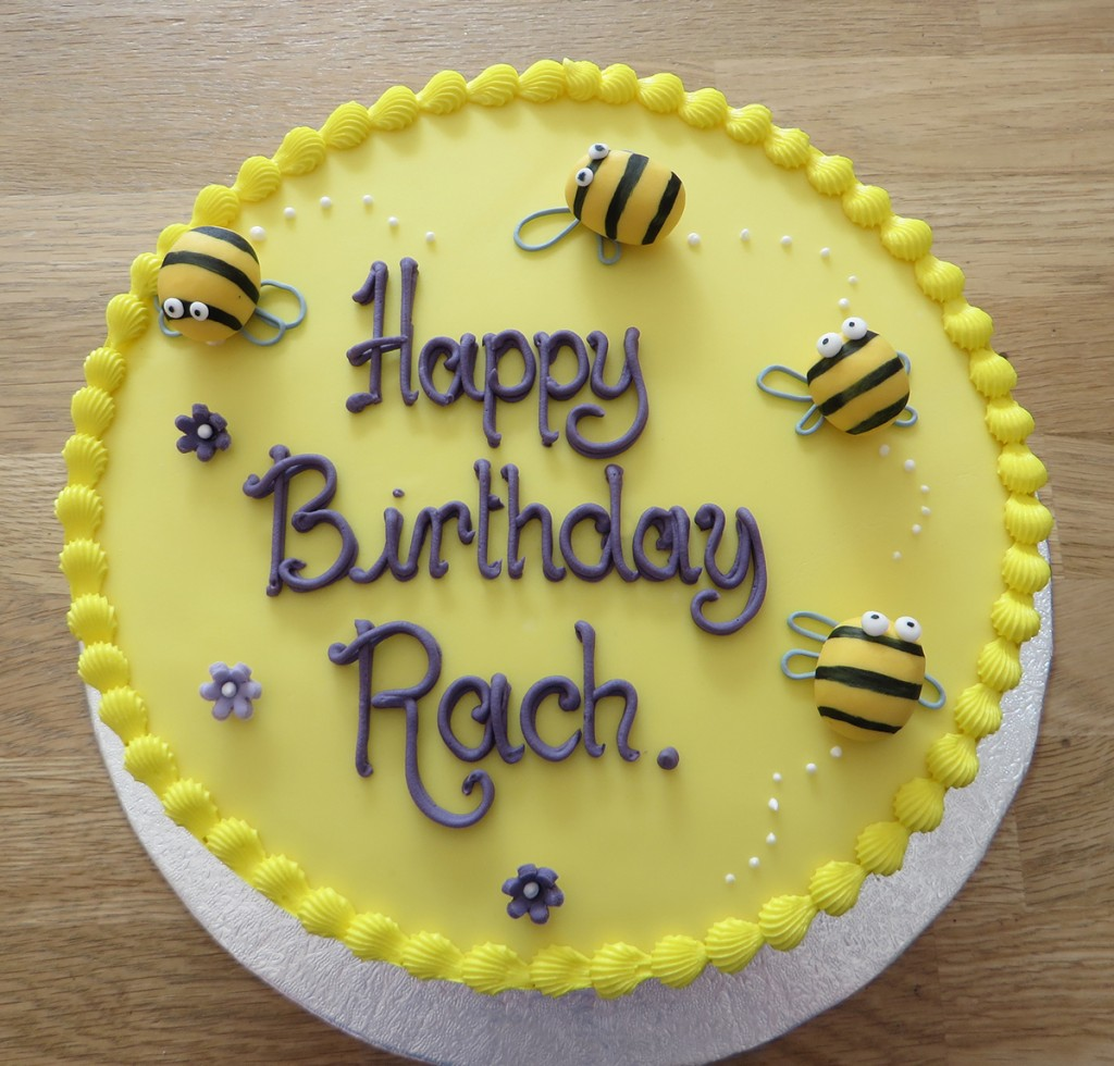 Bumble Bee Birthday Cake