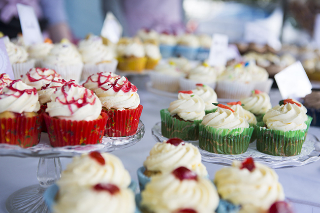 Cupcakes at the Leamington Food Festival