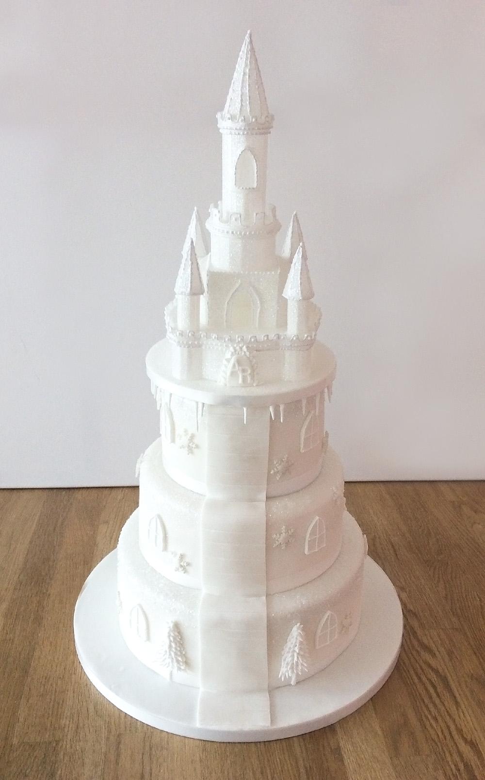 Castle Wedding Cake.Ice Castle Wedding Cake The Cakery Leamington Spa