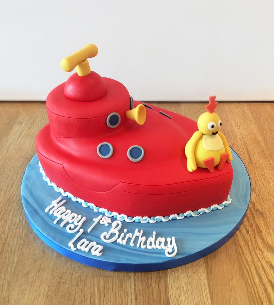 Twirlywoo Boat Birthday Cake