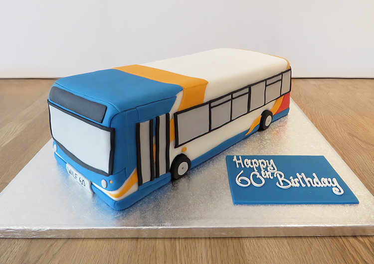 Novelty Bus Birthday Cake