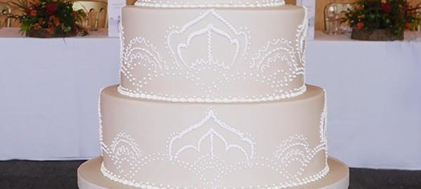 Pretty Pattern Wedding Cake