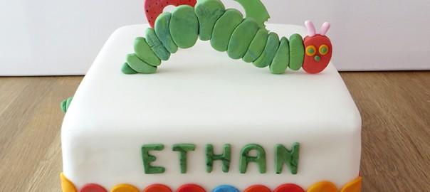 Hungry Caterpillar 3rd Birthday Cake