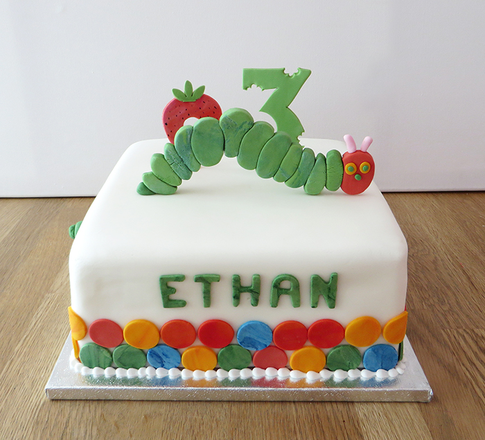 Hungry Caterpillar 3rd Birthday Cake