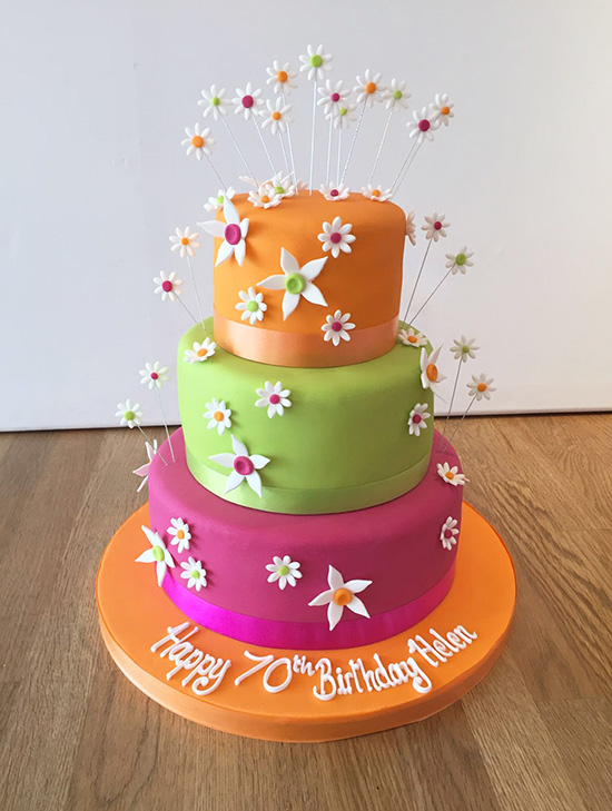Bright Colourful Flower Cake