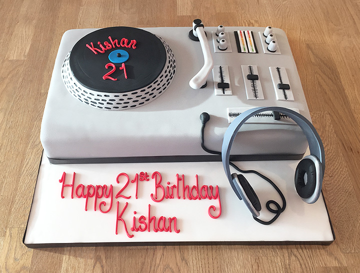 Fine Dj Deck Cake The Cakery Leamington Spa Birthday Cards Printable Trancafe Filternl