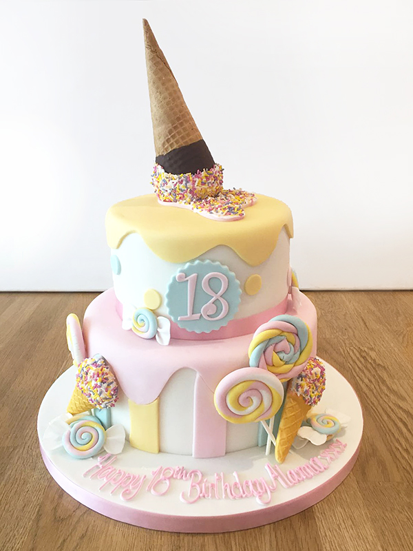 Ice Cream and Sweets Cake