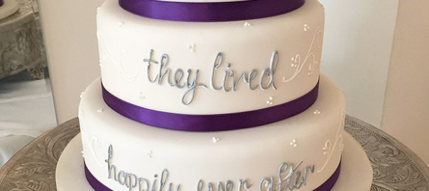And They Lived Happily Ever After Wedding Cake