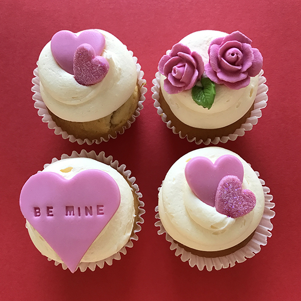 Be Mine Cupcakes