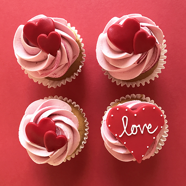 Love Hearts Cupcakes