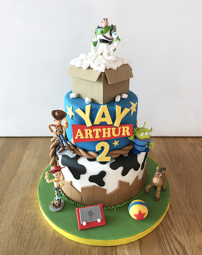 Peachy Toy Story 2Nd Birthday Cake The Cakery Leamington Spa Personalised Birthday Cards Rectzonderlifede
