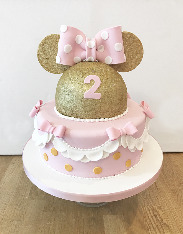 Glitter Gold Mini Mouse Cake